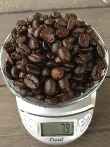 79 grams of roasted beans